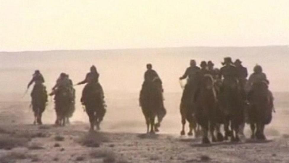 Record breaking camel race