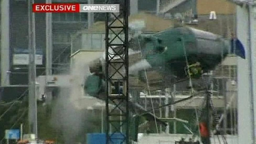 Lucky escape for helicopter pilot