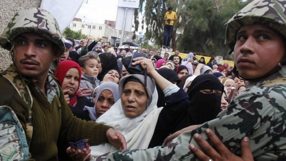 Huge queues for Egypt elections
