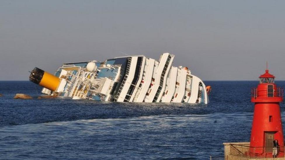 Cruise ship Costa Concordia sinks