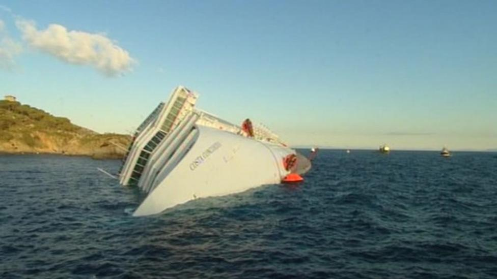 How did the cruise ship sink?