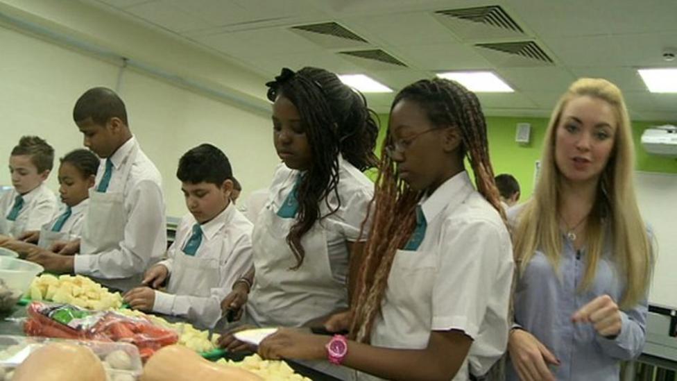 The school feeding the homeless