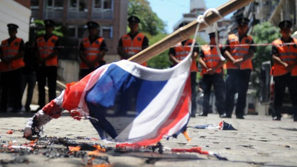 Tension rises over Falklands
