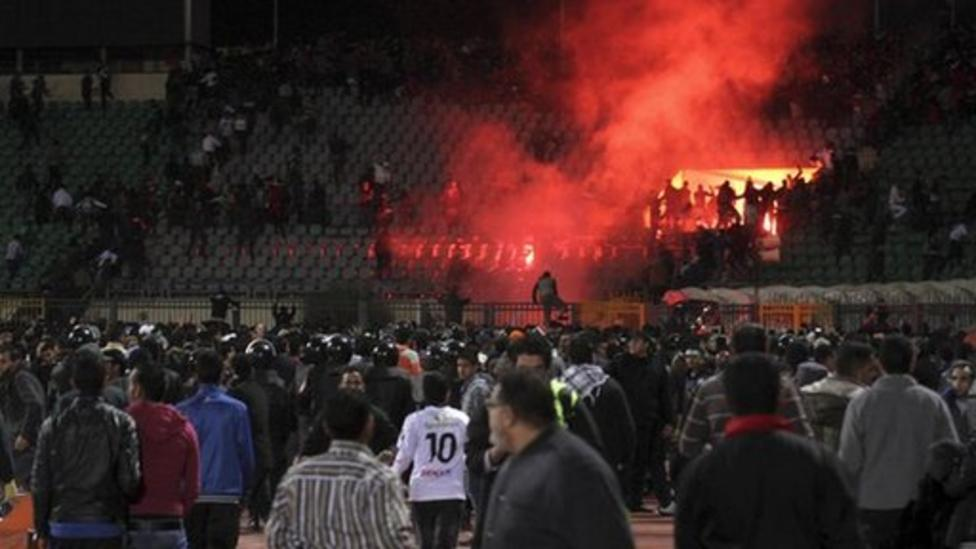 Riot at Egyptian football match