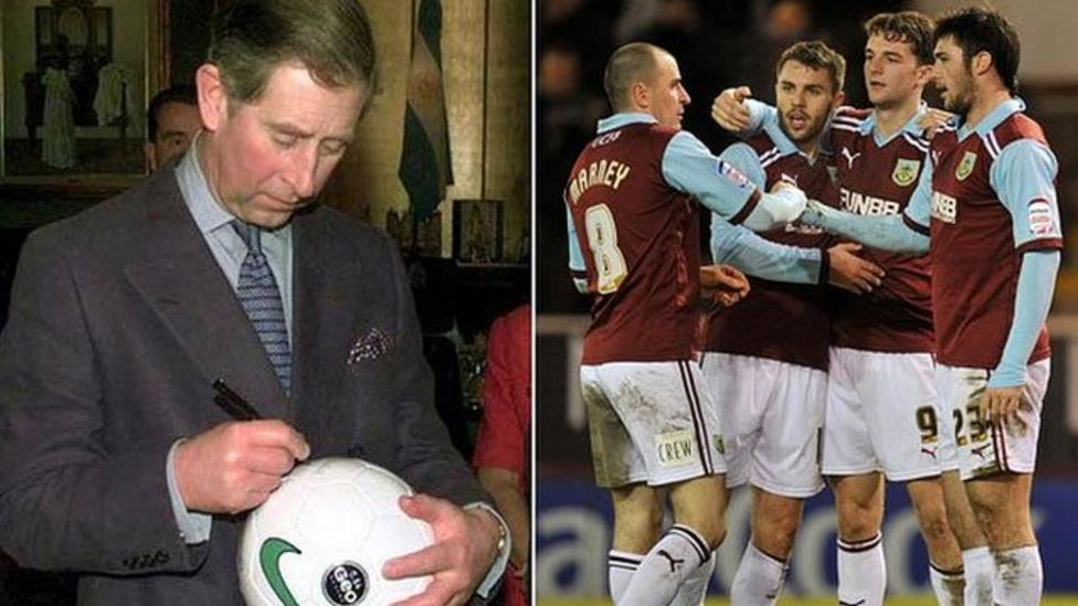 Prince Charles supports Burnley!
