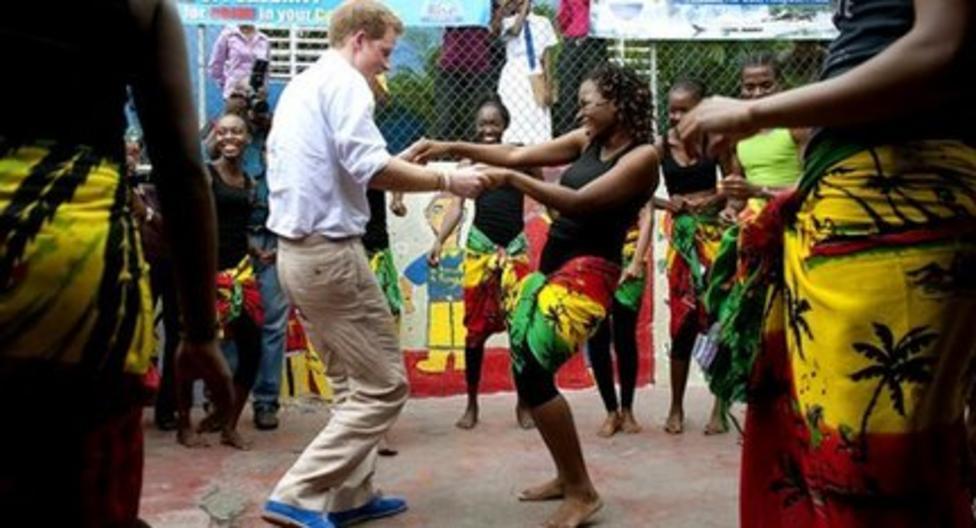 Prince Harry's reggae moves