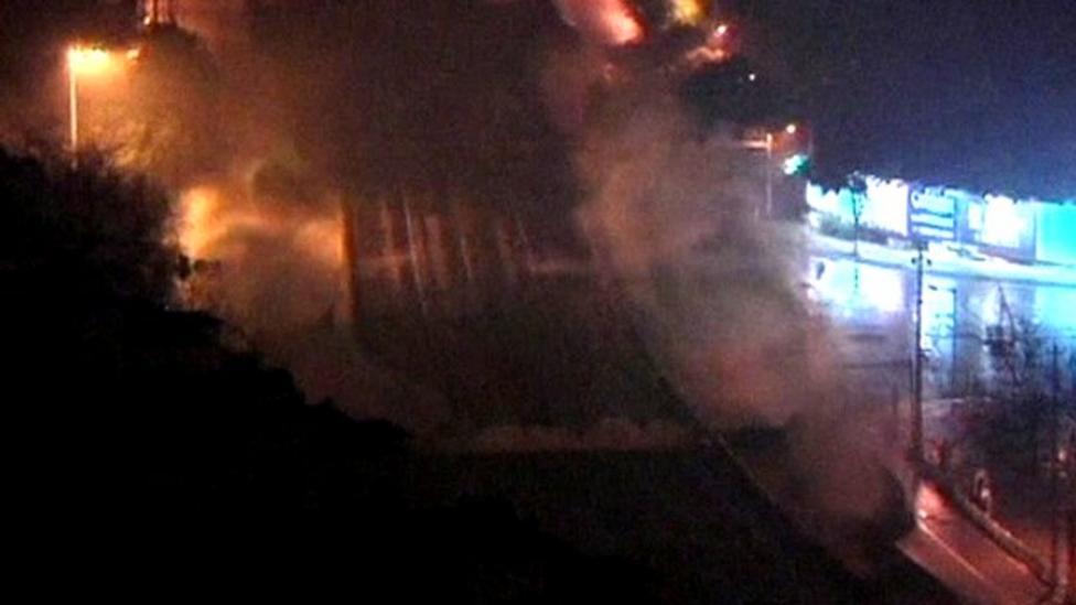 Massive Chinese bridge demolished