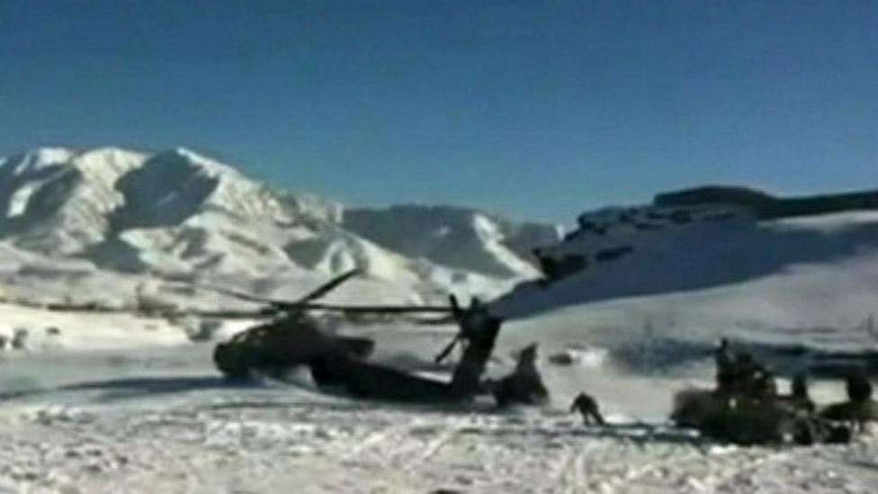 Incredible US helicopter crash