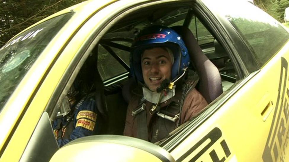 Ricky tries rally car racing