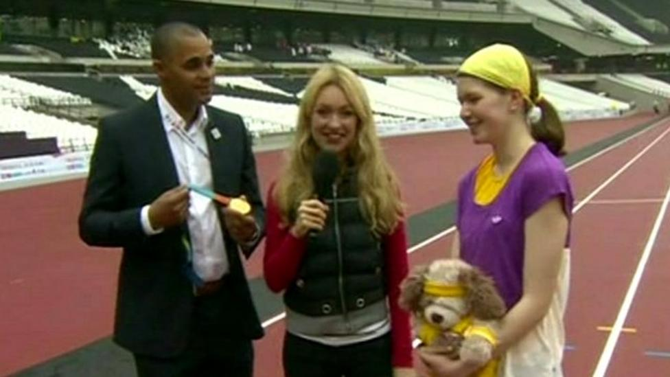 Hayley live from the Olympic Park