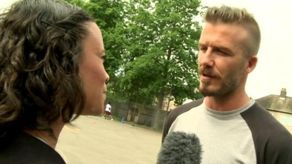 Beckham tells fans to 'stay safe'
