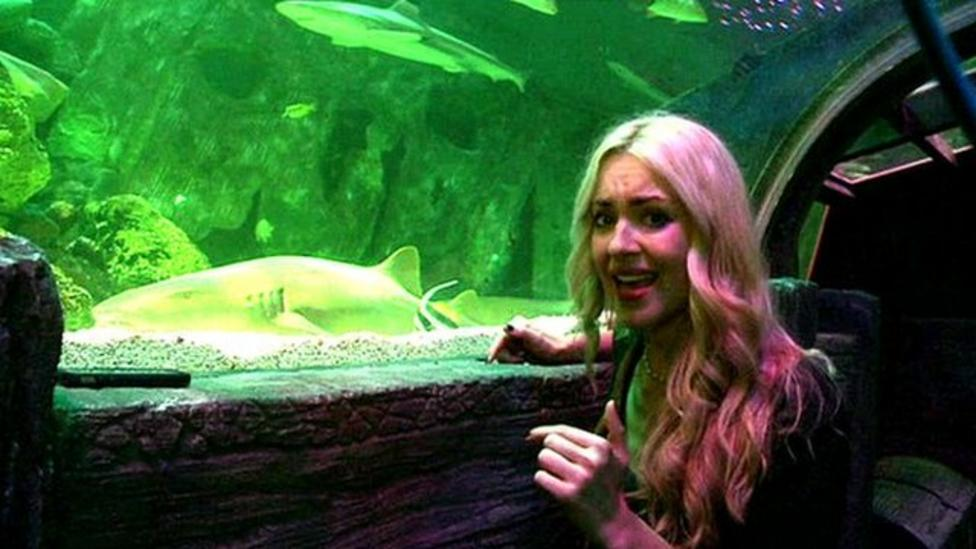 Hayley gets close to sharks!