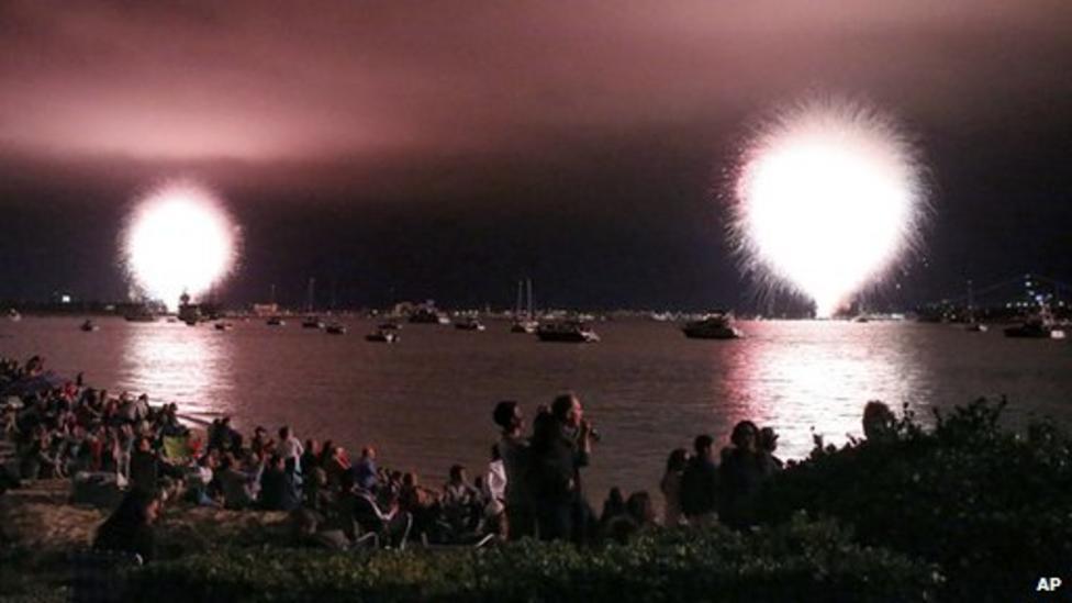 Huge firework display goes wrong