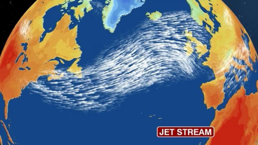 Map of the jetstream - CBBC Newsround