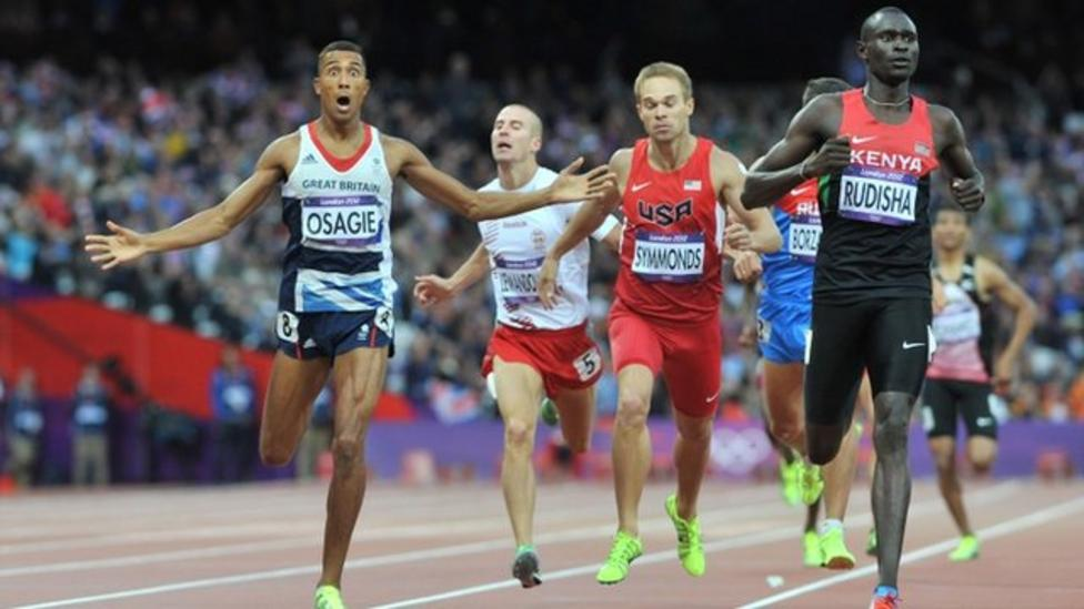 Great Britain's Andrew Osagie storms through to 800m Olympic final