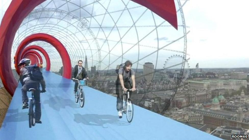 Cycle lanes in the sky