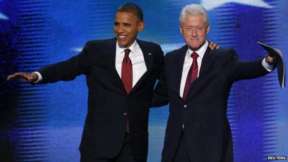 Obama given support by Clinton