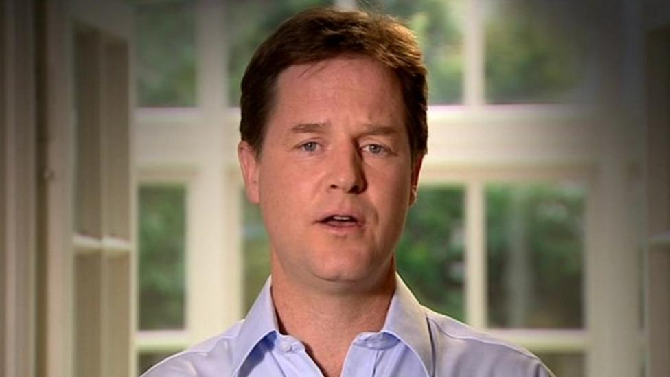 Nick Clegg's sorry 'song'