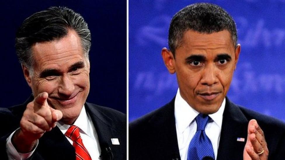 Obama faces Romney in TV debate