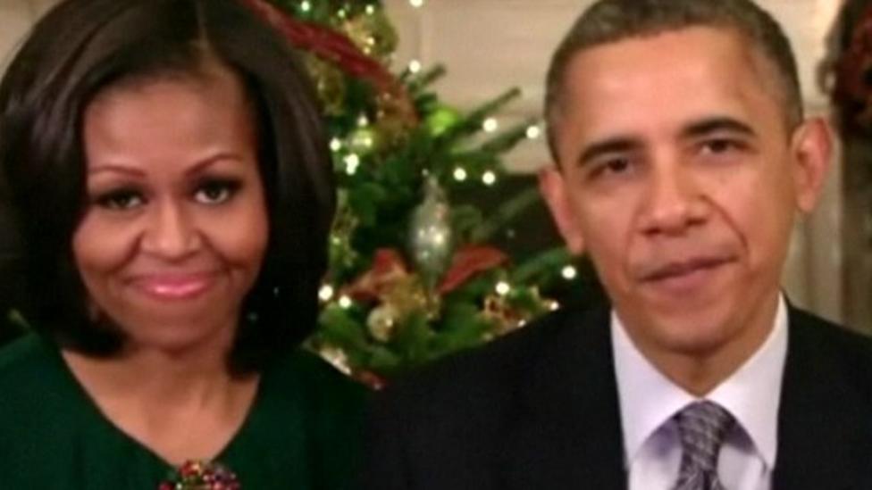 Obama Christmas.Video Obama S Christmas Message Cbbc Newsround