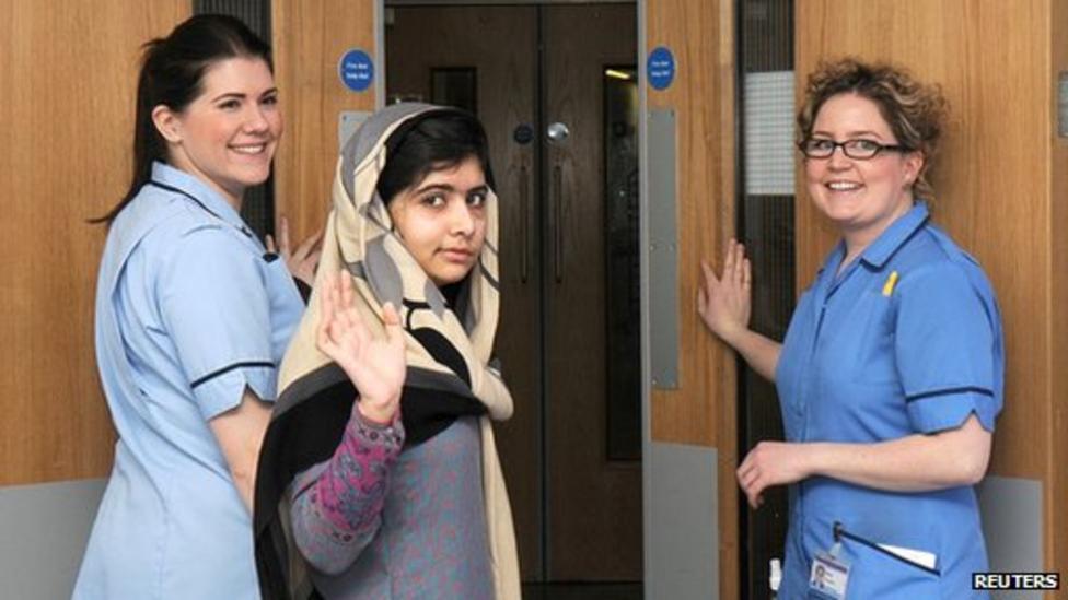 Video: Malala Yousafzai leaves hospital