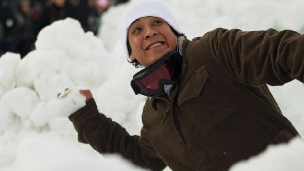 World's largest snowball fight