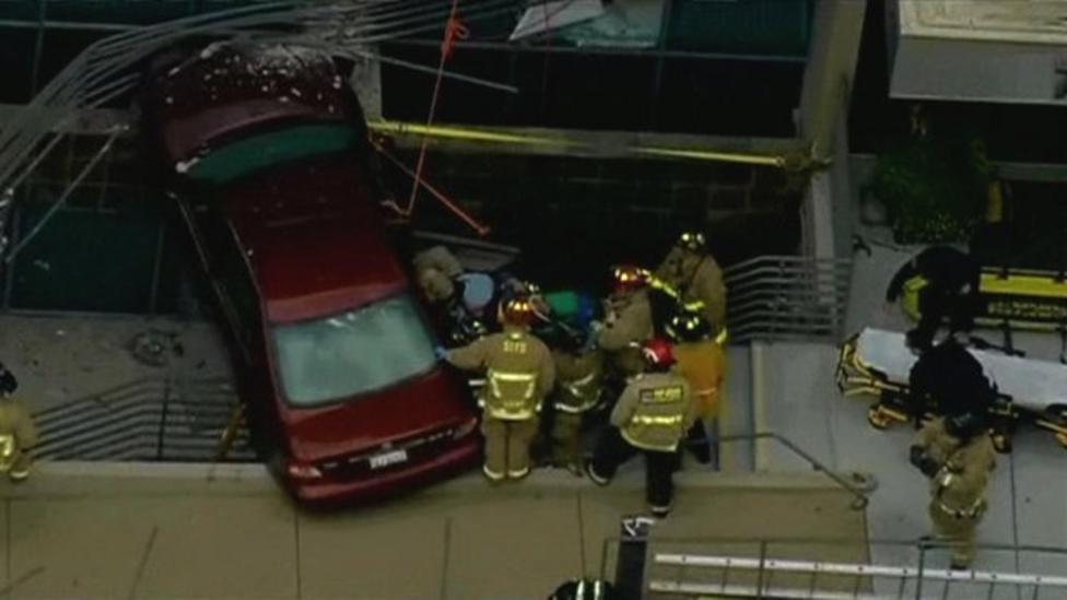 Video: California driver's lucky escape