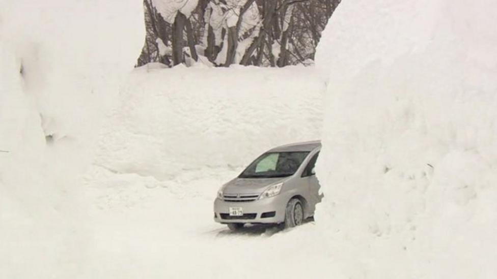 Japanese drivers in snow tunnels