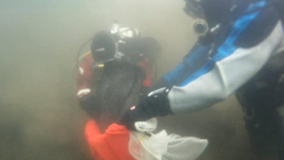 Huge underwater litter pick