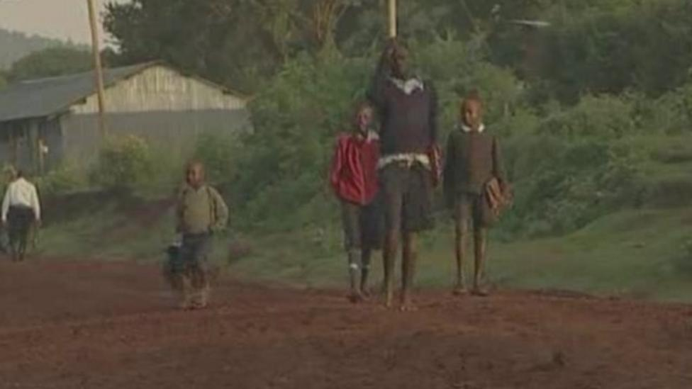 Watch the journey of some kids in Kenya...