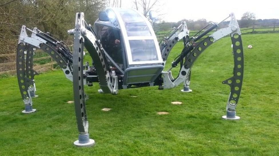 Giant robot spider struts its stuff