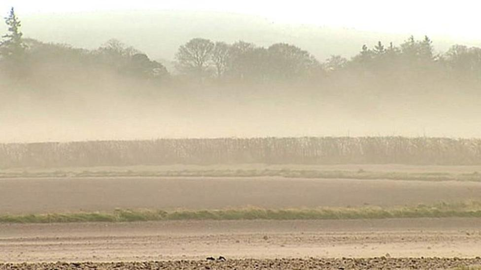 High winds cause Scotland sandstorms