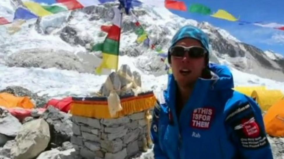 Comic Relief climber nears summit