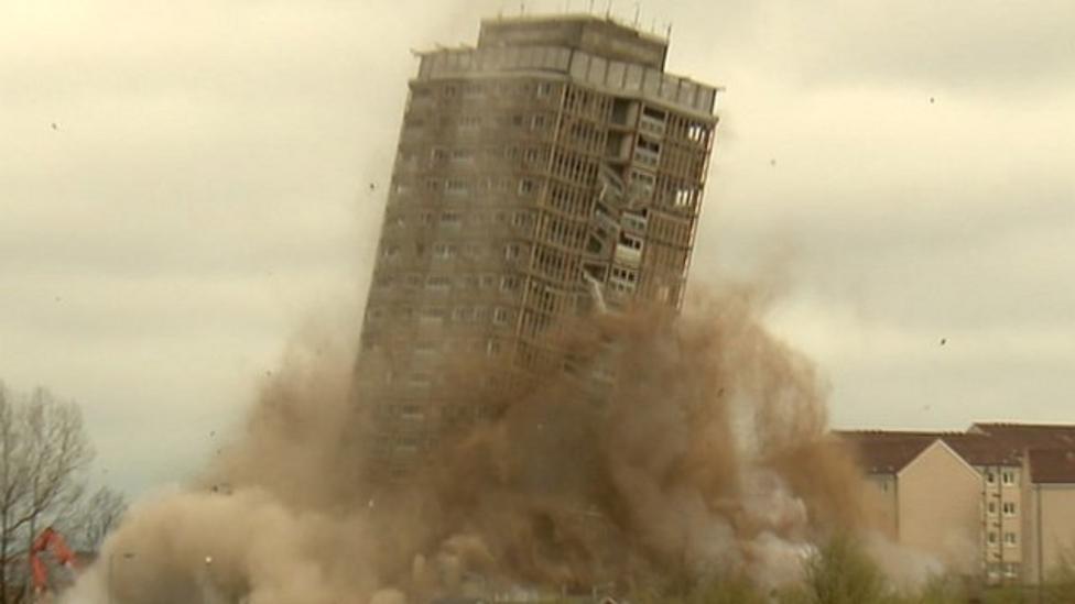Famous Glasgow tower demolished