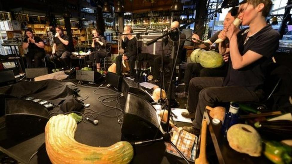 Vegetable orchestra play tasty tunes
