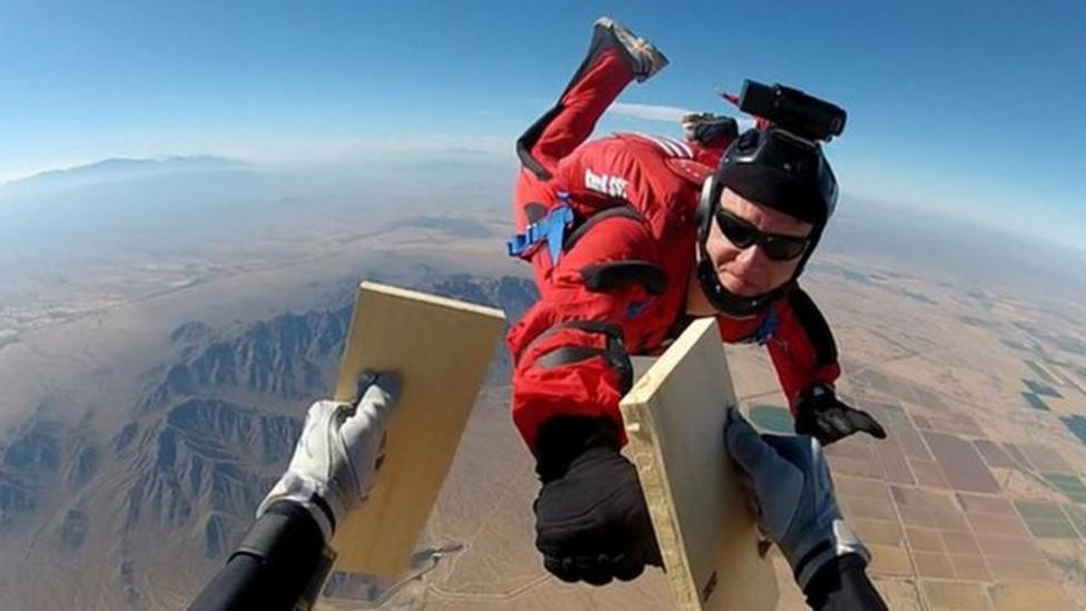 Karate skydive record attempt