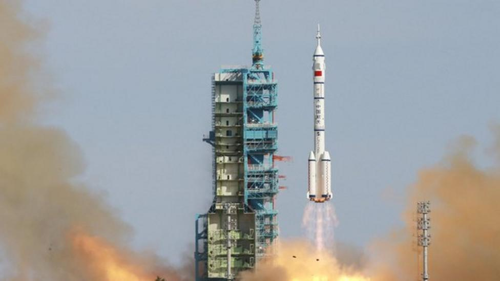 Watch China's space rocket launch