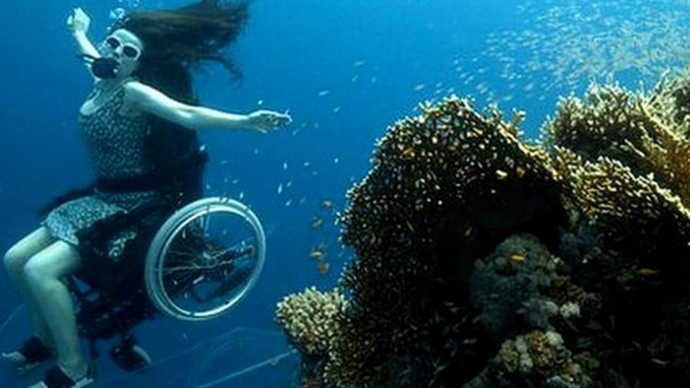 World's first scuba wheelchair
