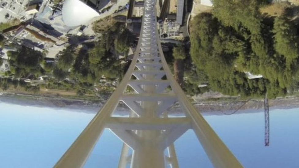 'Fastest' rollercoaster opens in Los Angeles