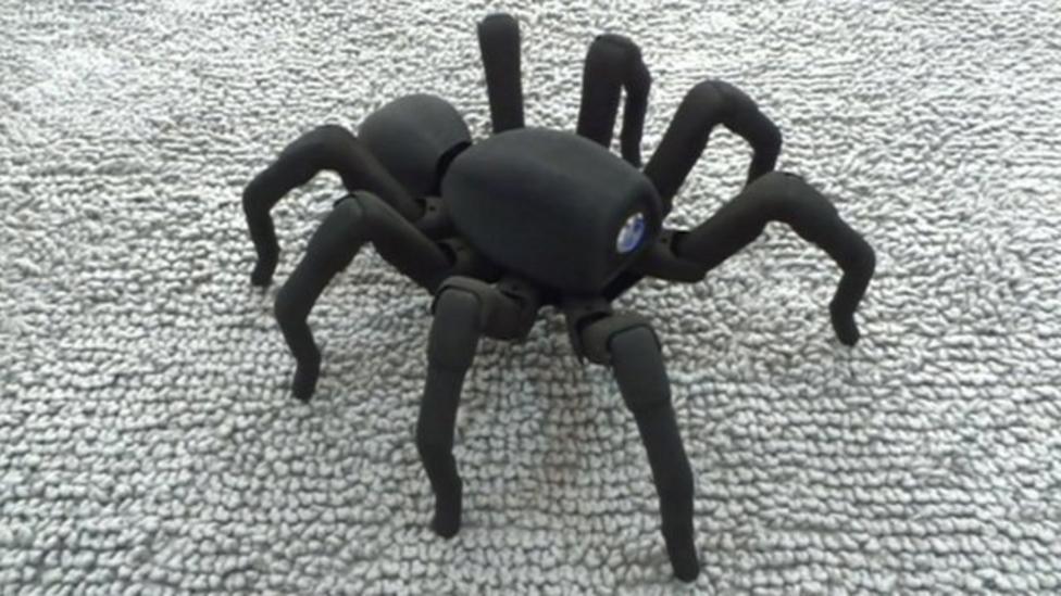 Robo-spider crawls into action