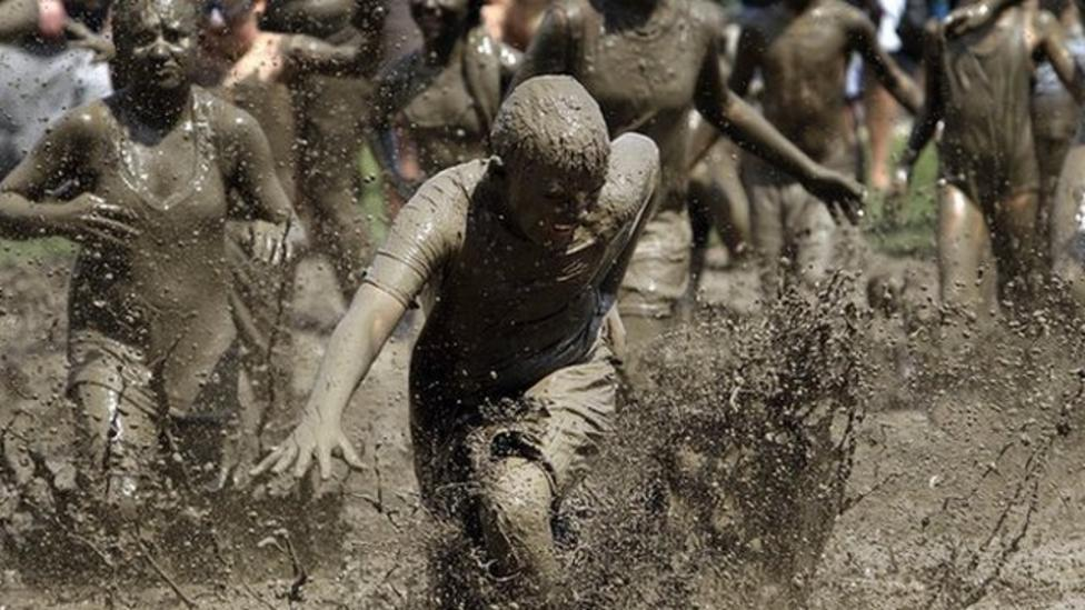 Kids get mucky in annual Mud Day