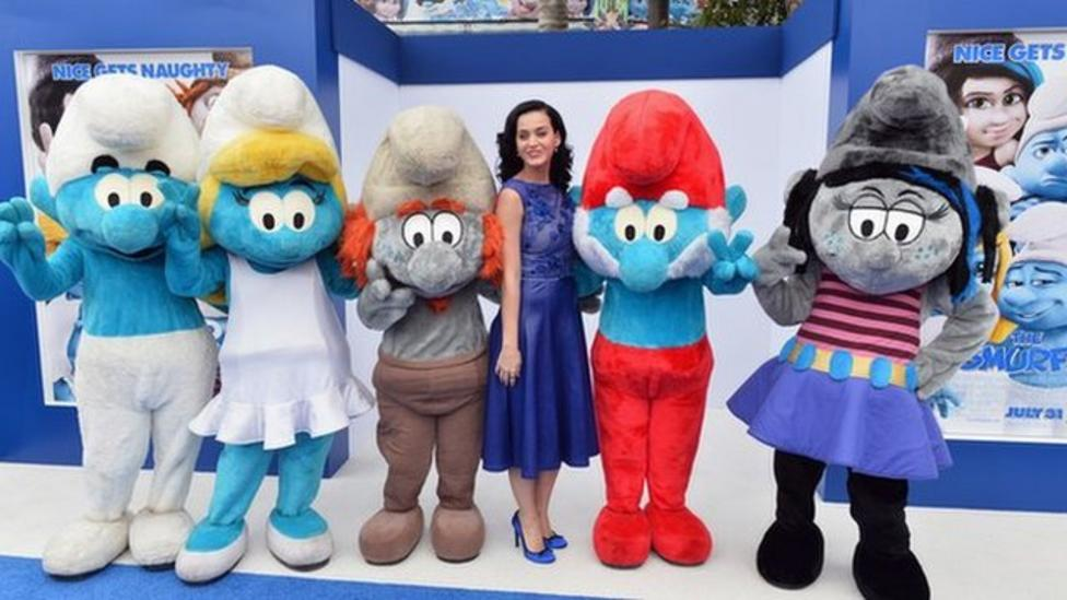 Katy Perry stars in new Smurf film