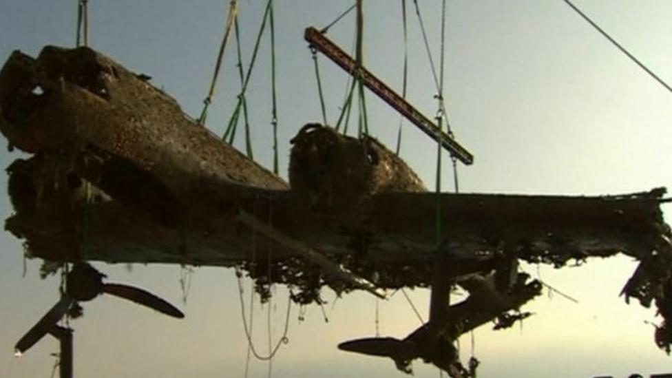 World War II fighter plane pulled out of English channel