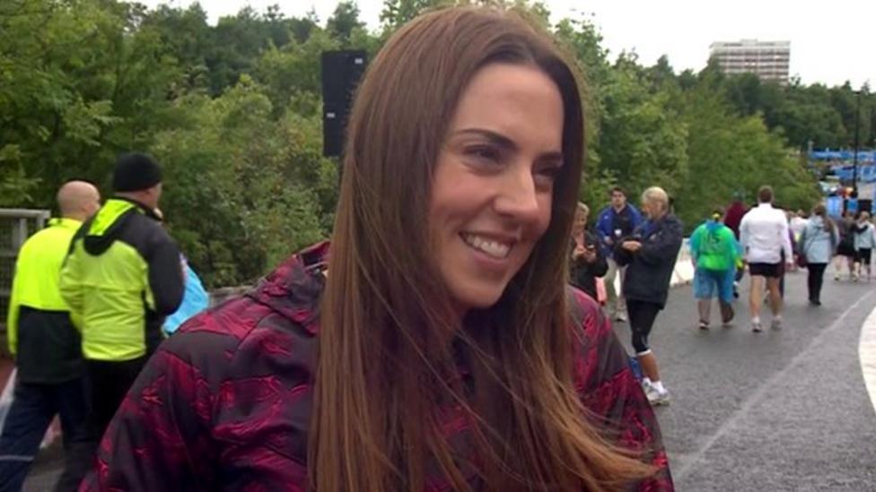 Video: Ex-Spice Girl Mel C on Great North Run