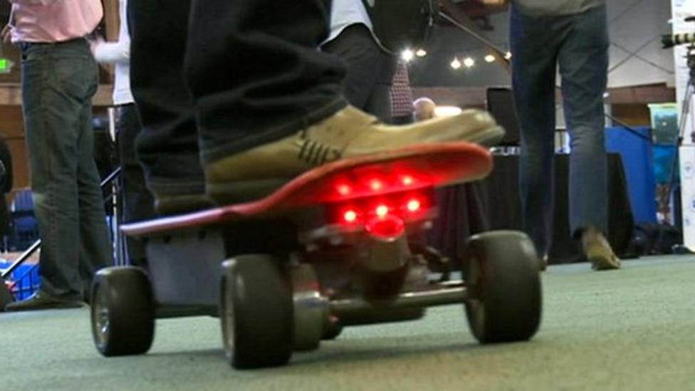 The motorised skateboard