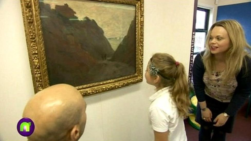 Famous painting arrives at school
