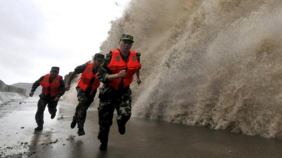 Typhoon Fitow hits eastern China