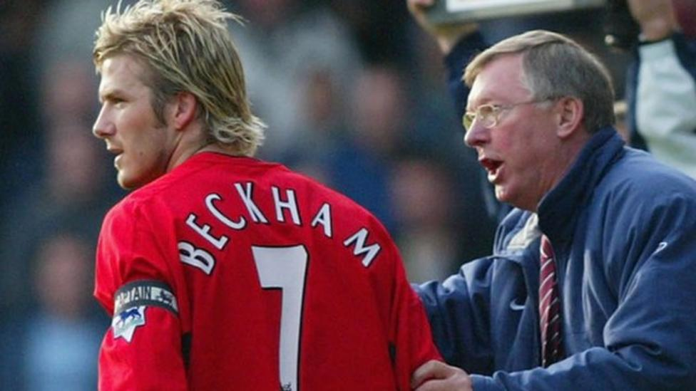Archive: Sir Alex Ferguson and David Beckham boot row - BBC Sport