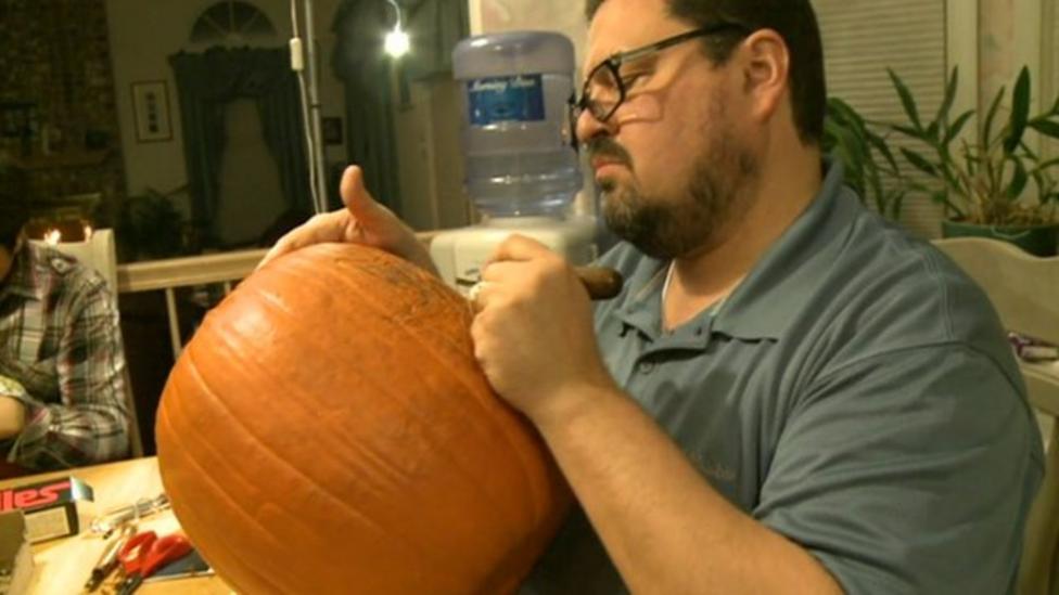 Halloween fan carves amazing pumpkins
