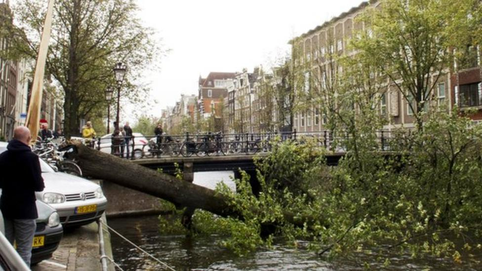 Monday's storm moves on to Europe
